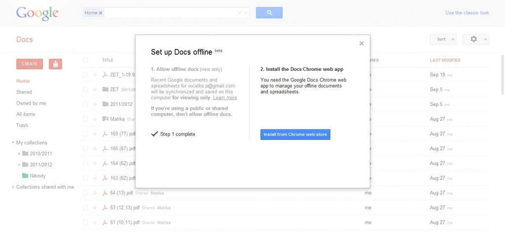 how to get google docs offline