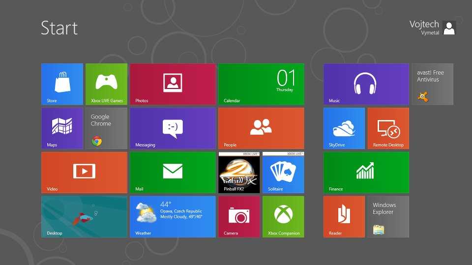 windows 8 metro menu start