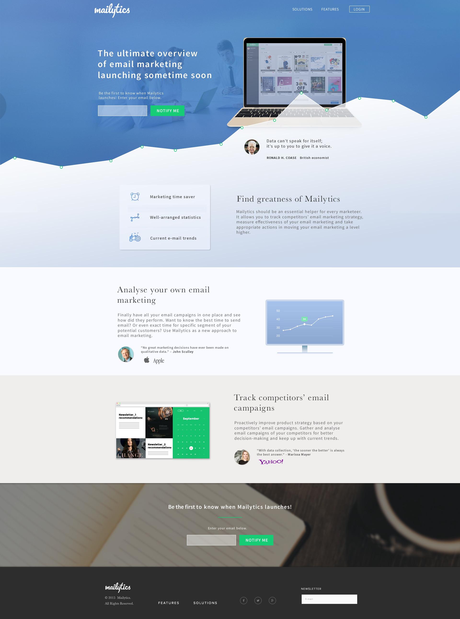 Design webu Mailytics