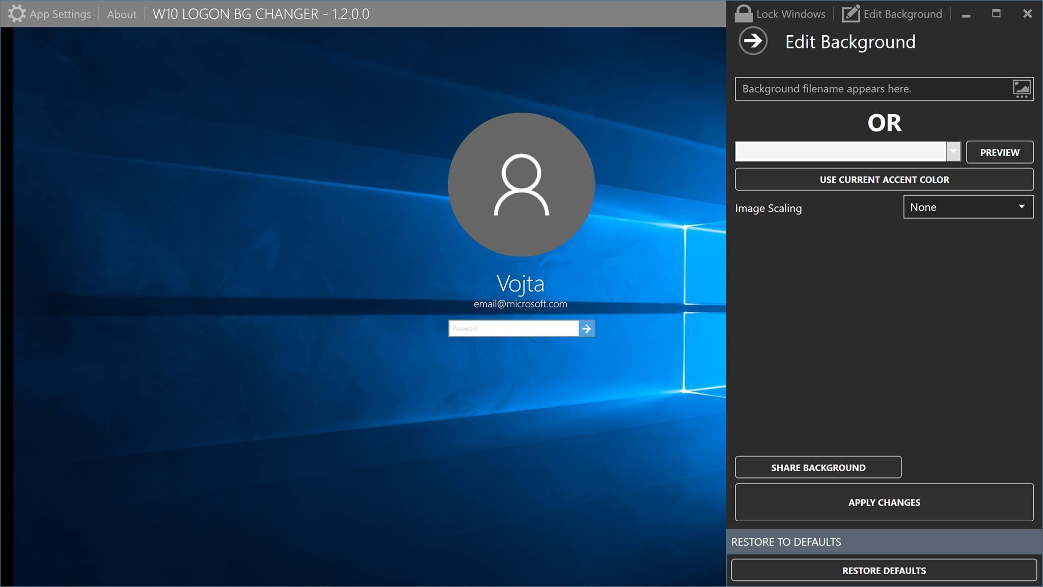 Windows 7 Logon Background Changer 1 3 4 программа для